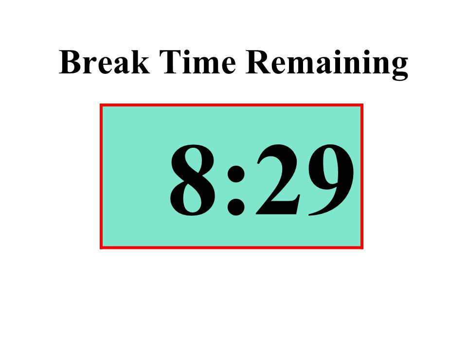 Break Time Remaining 8:29