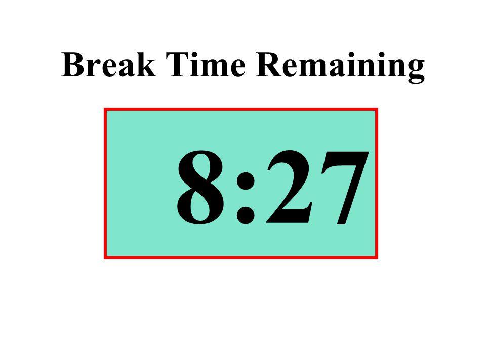 Break Time Remaining 8:27
