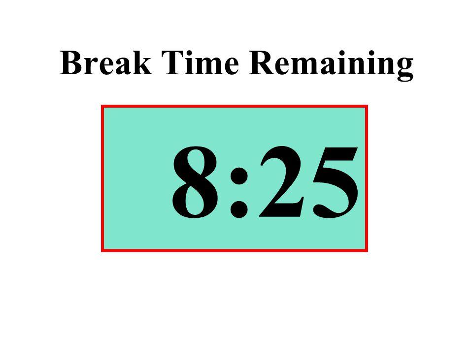 Break Time Remaining 8:25