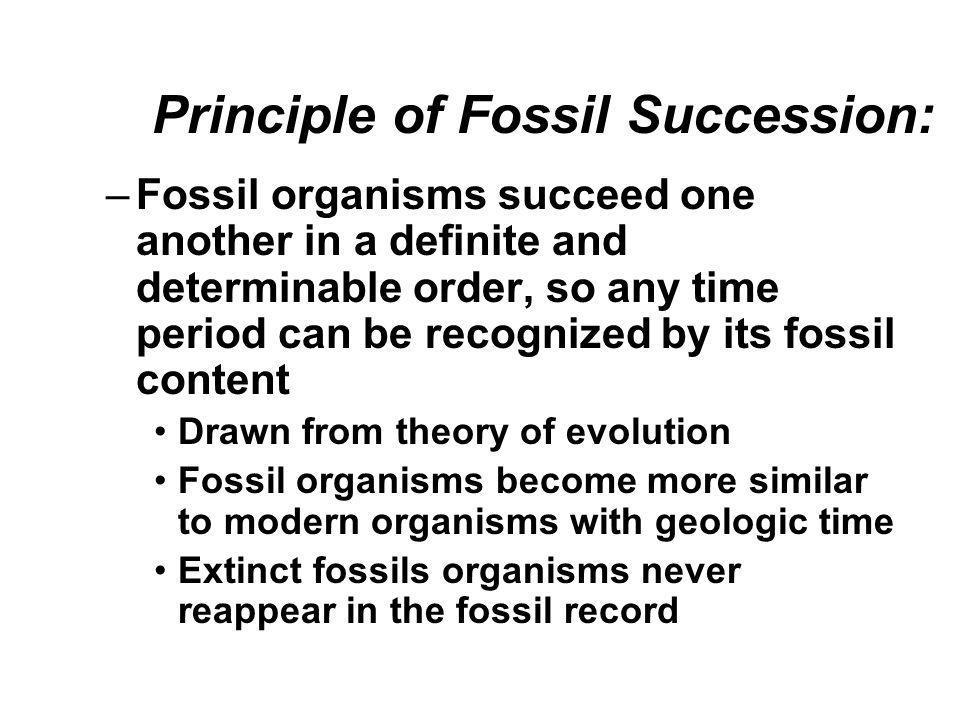Principle of Fossil Succession:
