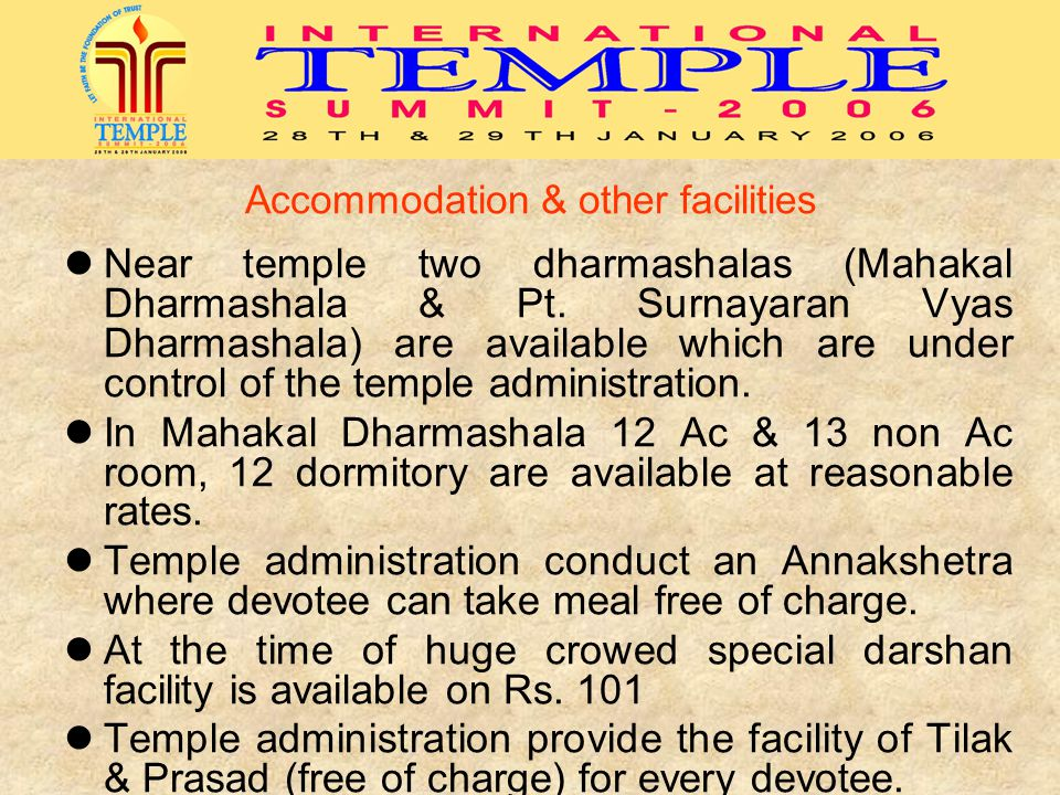 Accommodation & other facilities