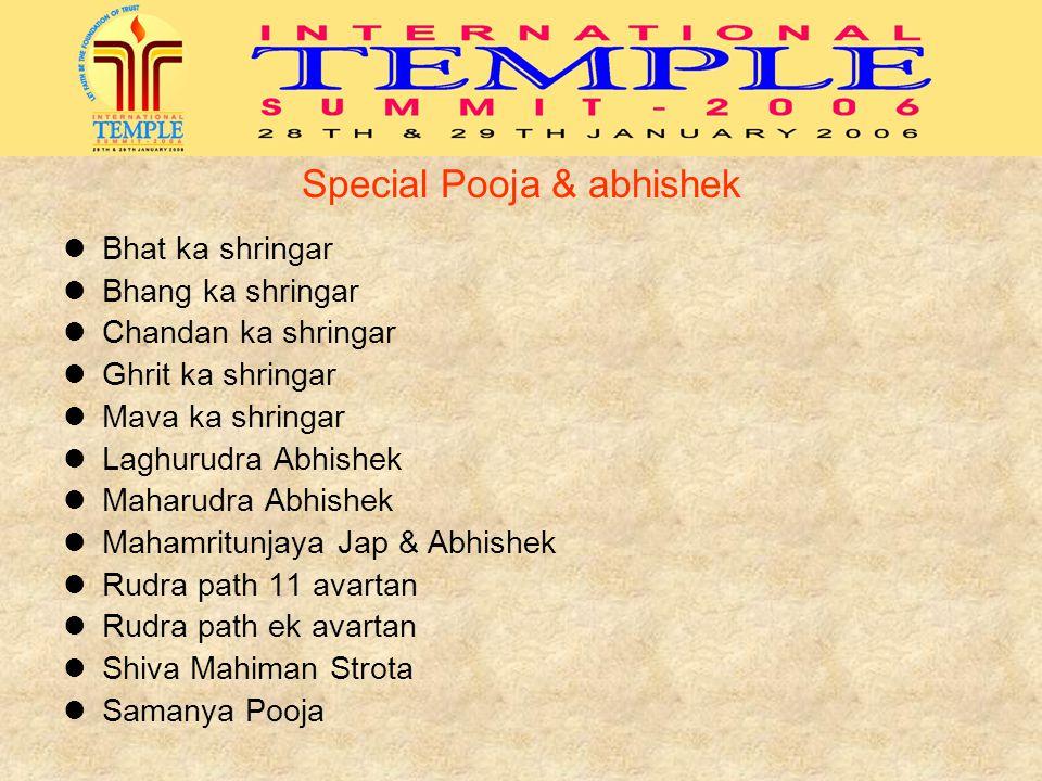 Special Pooja & abhishek