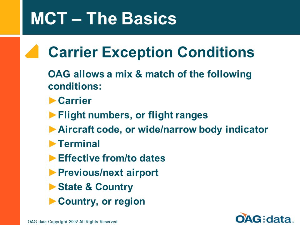 Carrier Exception Conditions