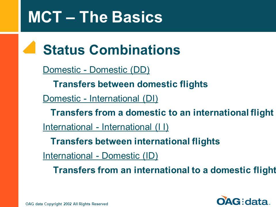 Status Combinations Domestic - Domestic (DD)