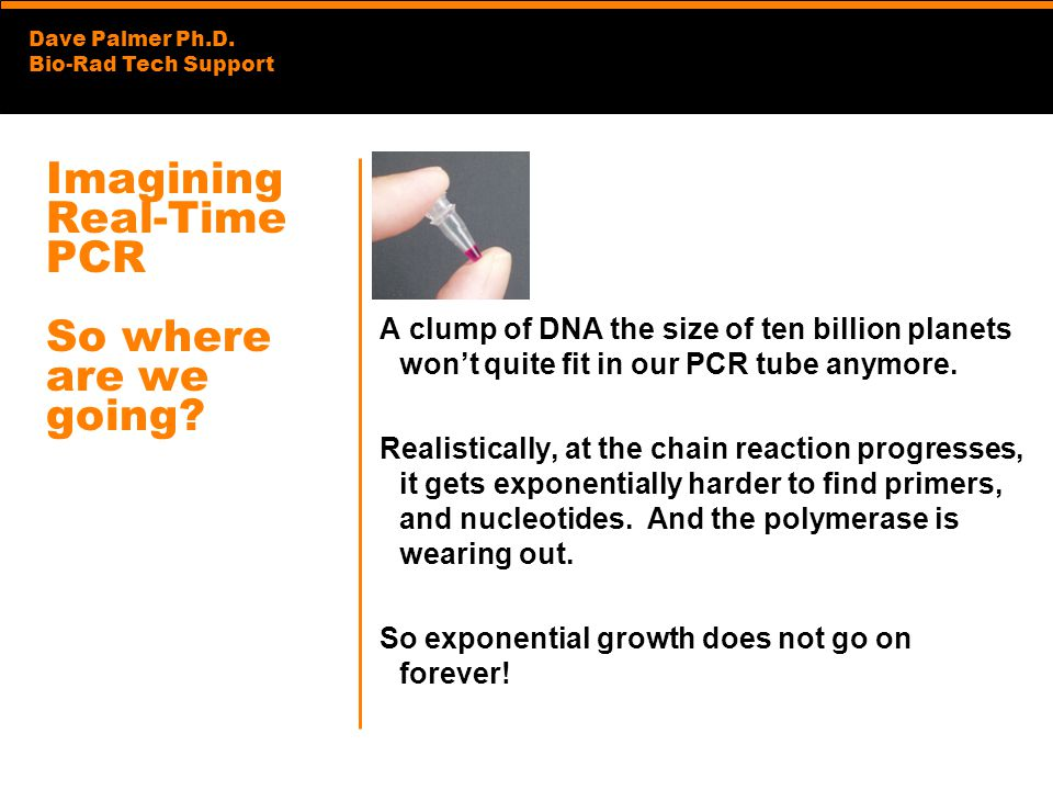 Imagining Real-Time PCR So where are we going