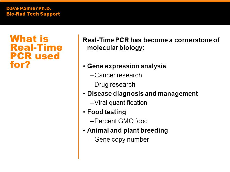 What is Real-Time PCR used for
