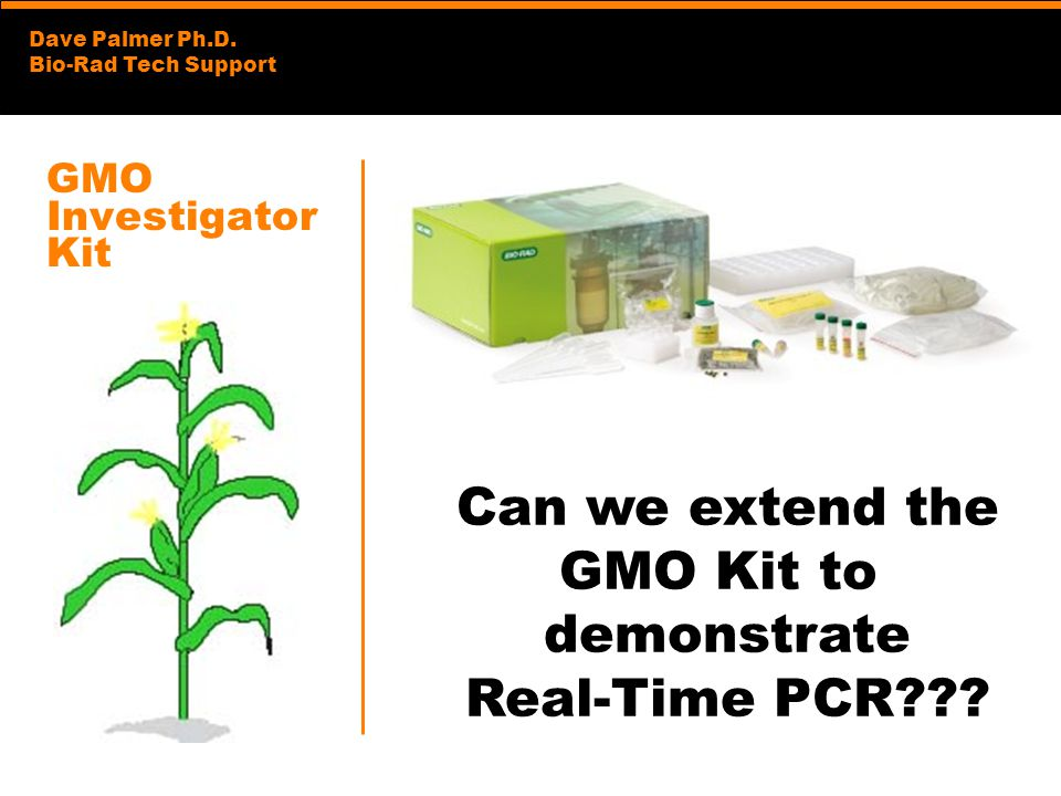 Can we extend the GMO Kit to demonstrate Real-Time PCR