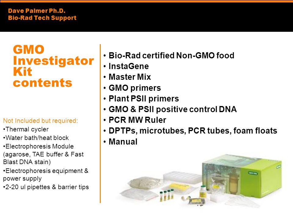 GMO Investigator Kit contents