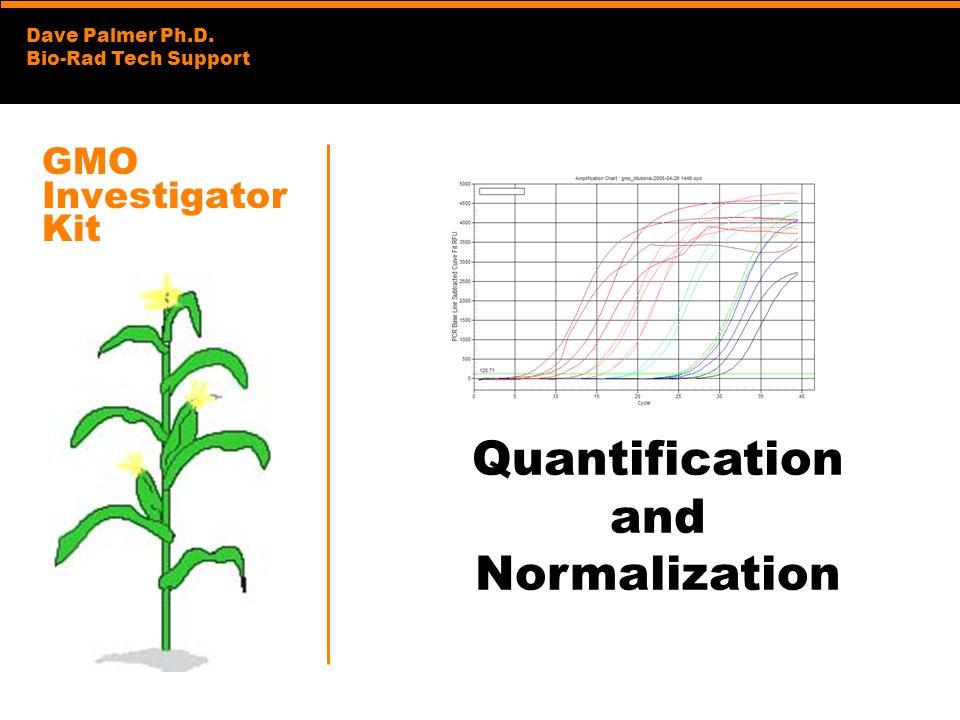GMO Investigator Kit Quantification and Normalization
