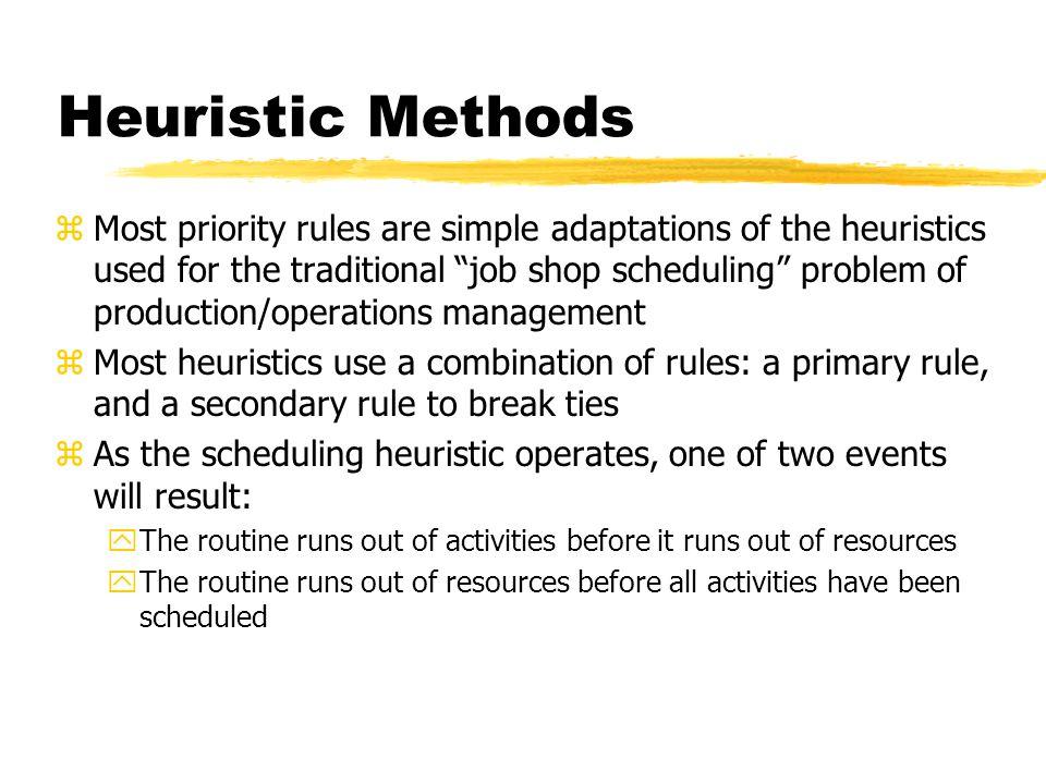 Heuristic Methods