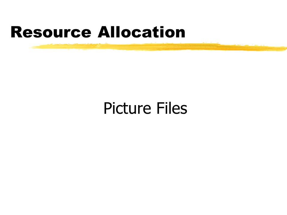 Resource Allocation Picture Files