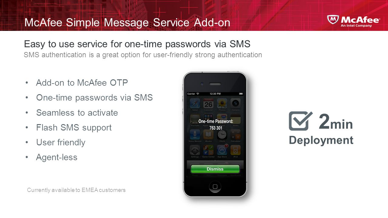 McAfee Simple Message Service Add-on