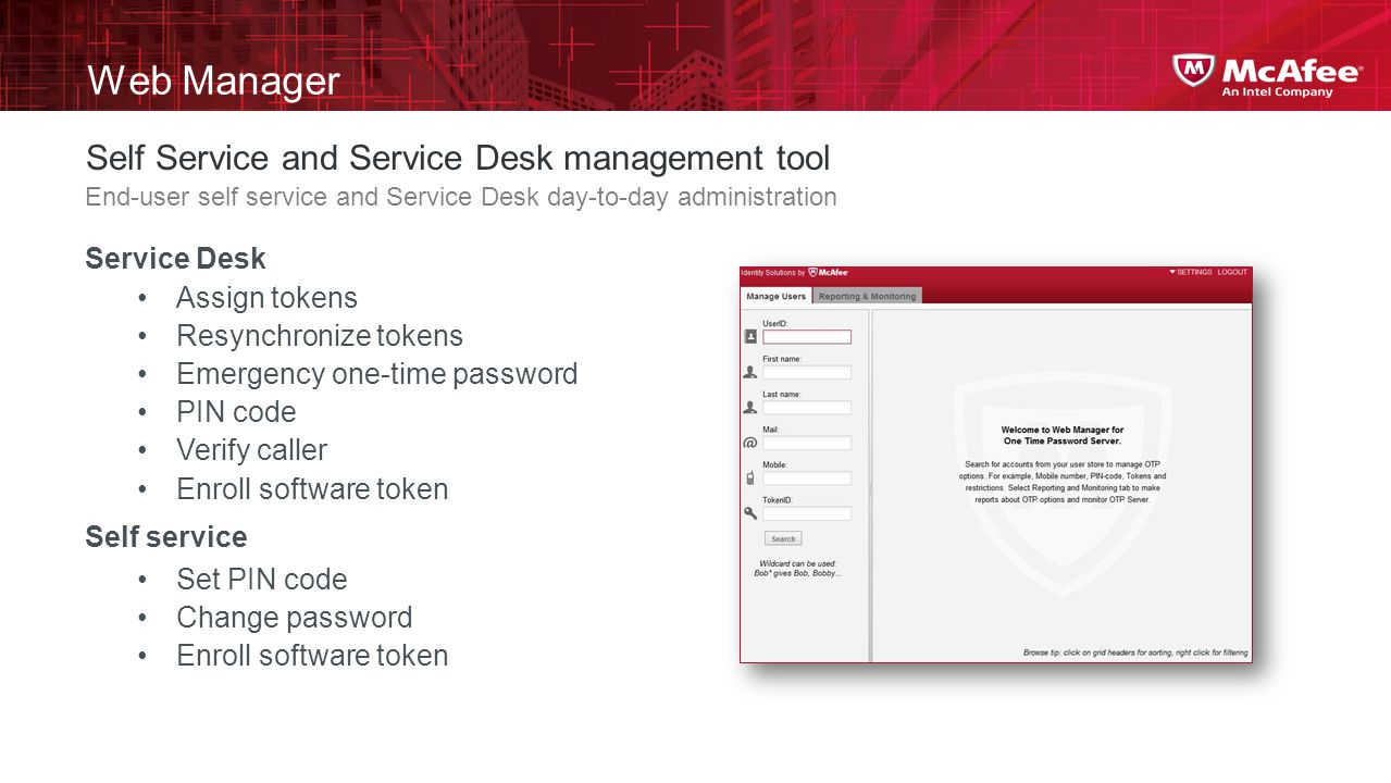 Web Manager Self Service and Service Desk management tool Service Desk