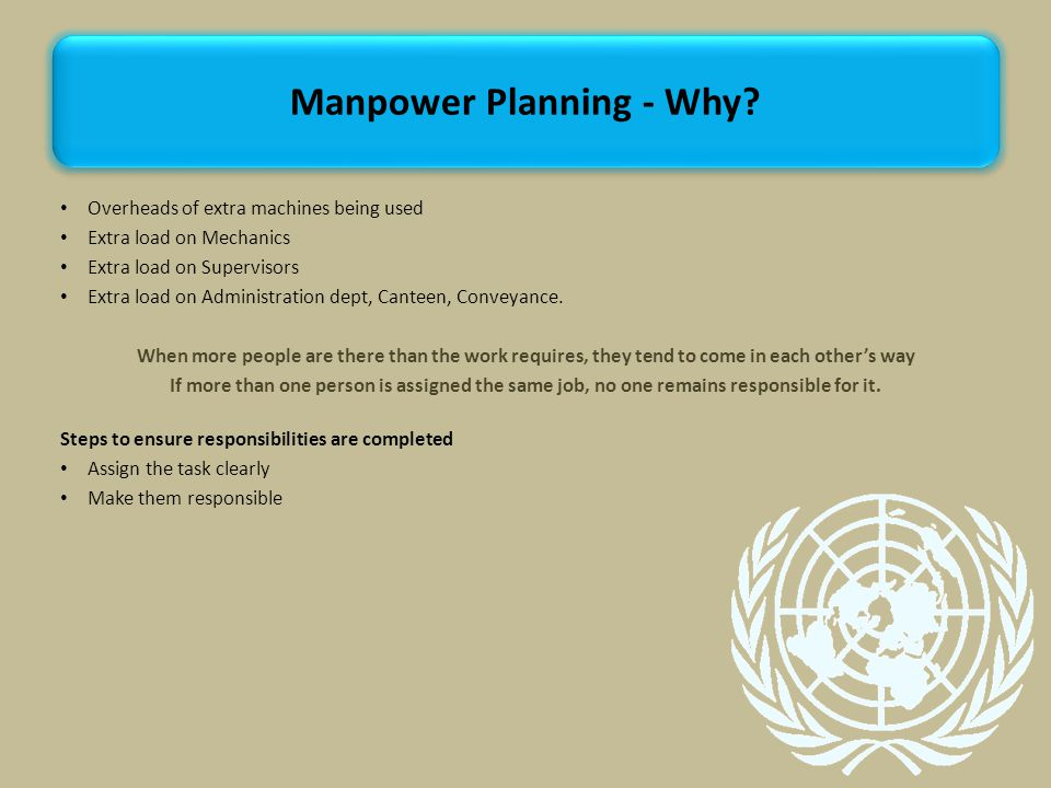 Manpower Planning - Why