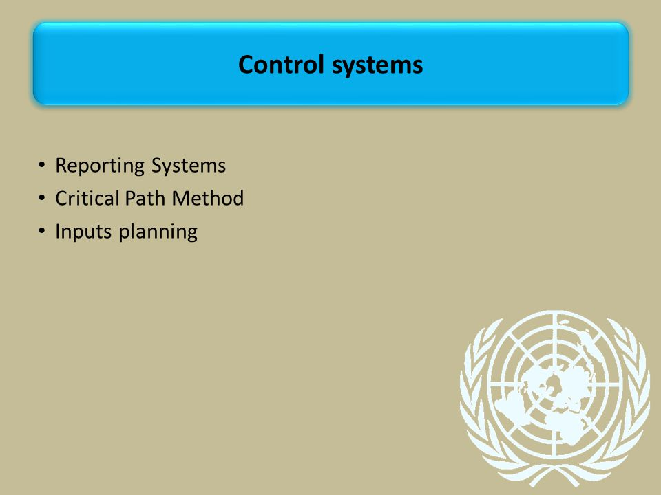 Control systems Reporting Systems Critical Path Method Inputs planning