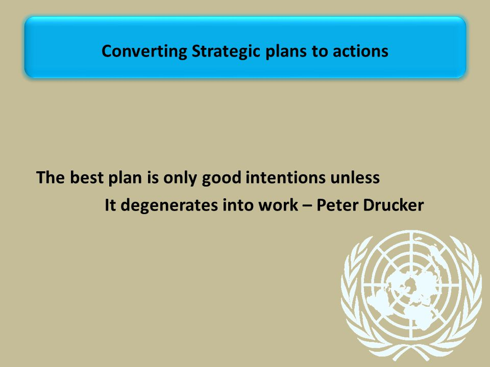 Converting Strategic plans to actions