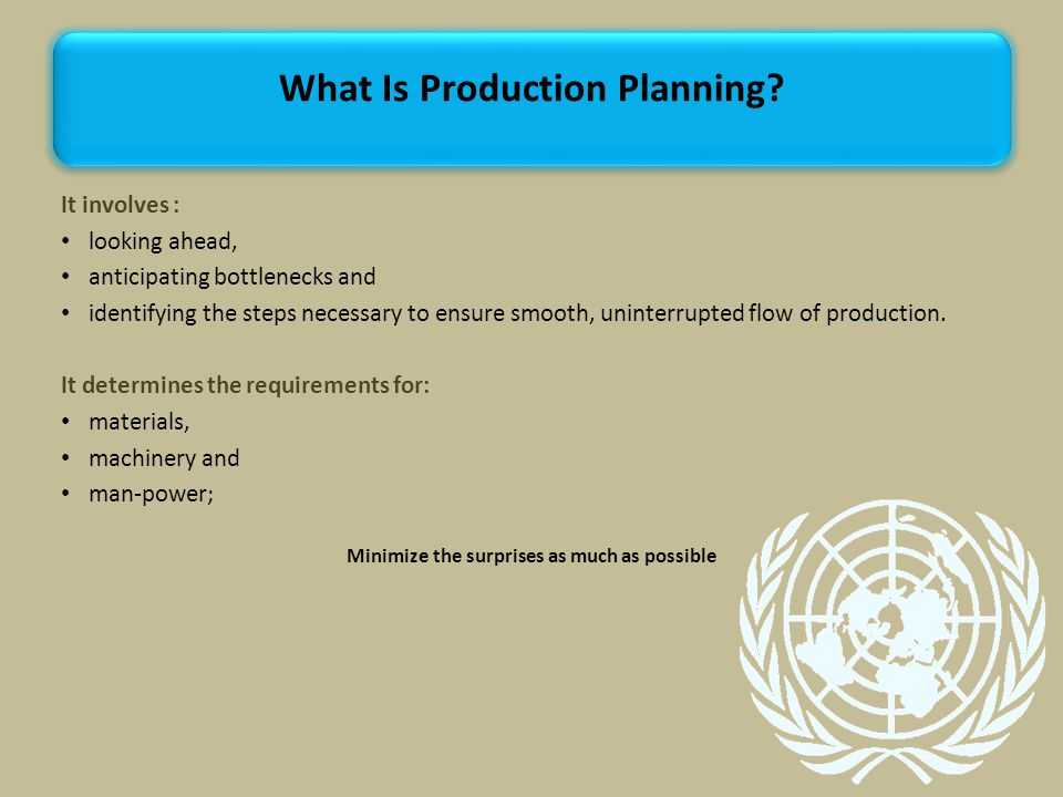What Is Production Planning