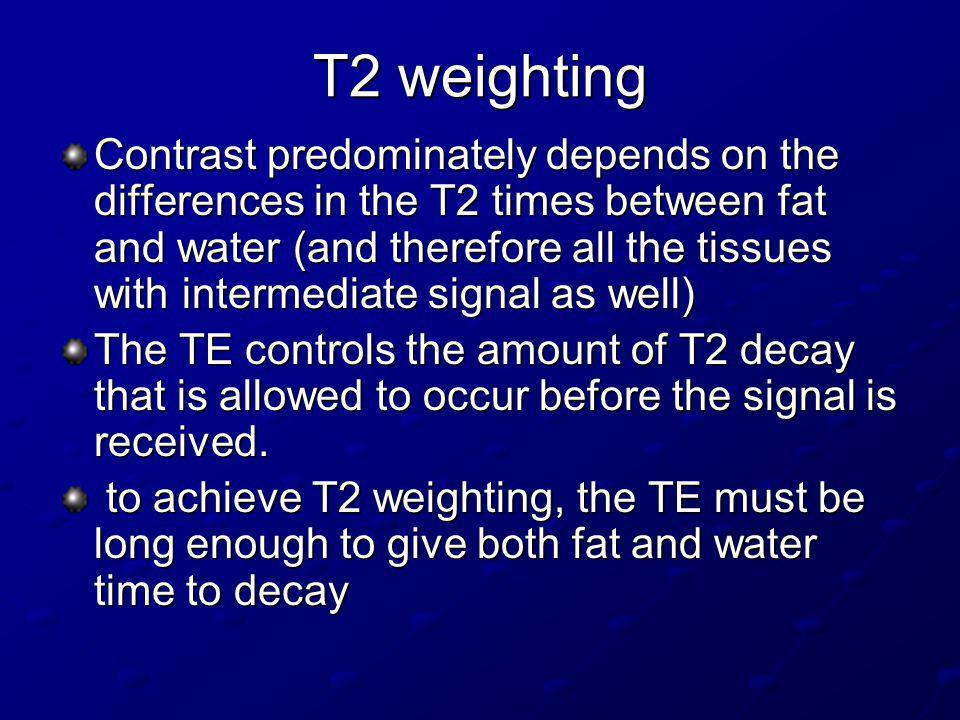 T2 weighting
