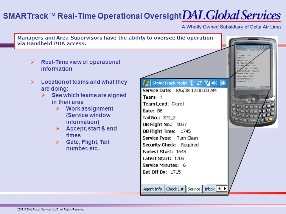 SMARTrack™ Real-Time Operational Oversight