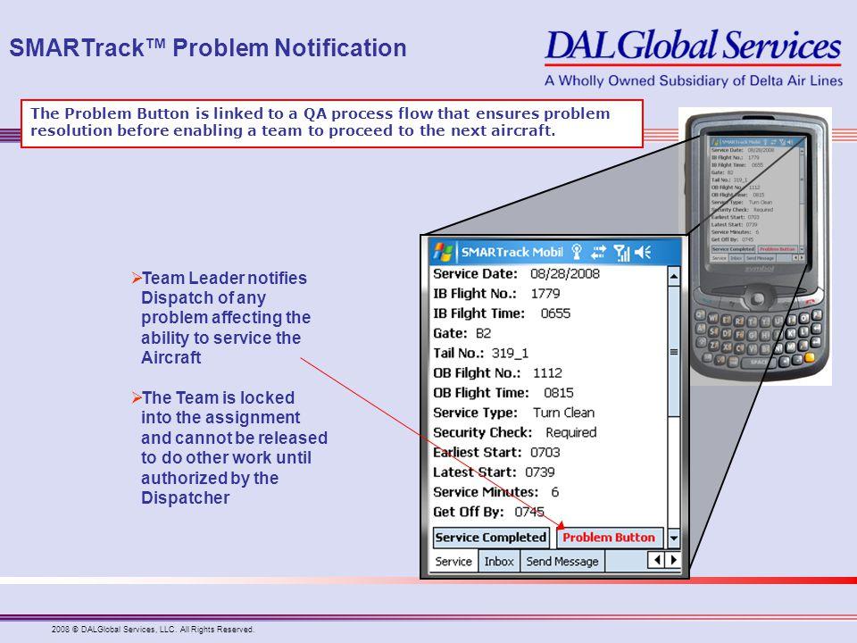 SMARTrack™ Problem Notification