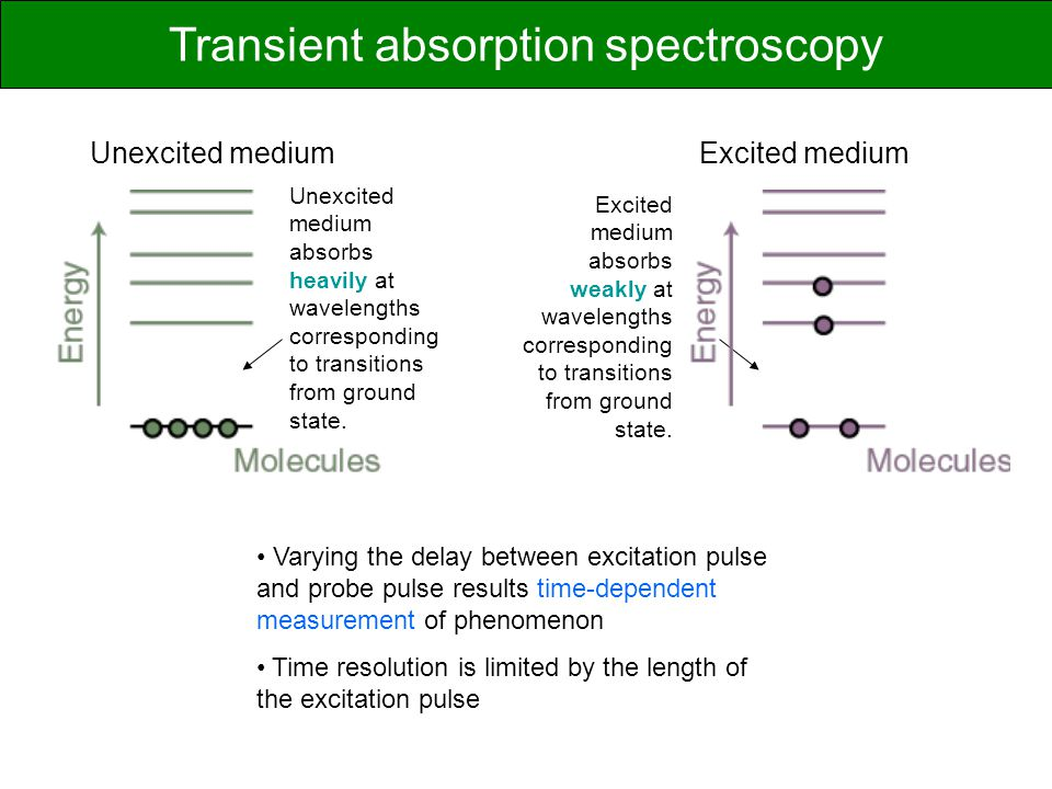 Transient absorption spectroscopy