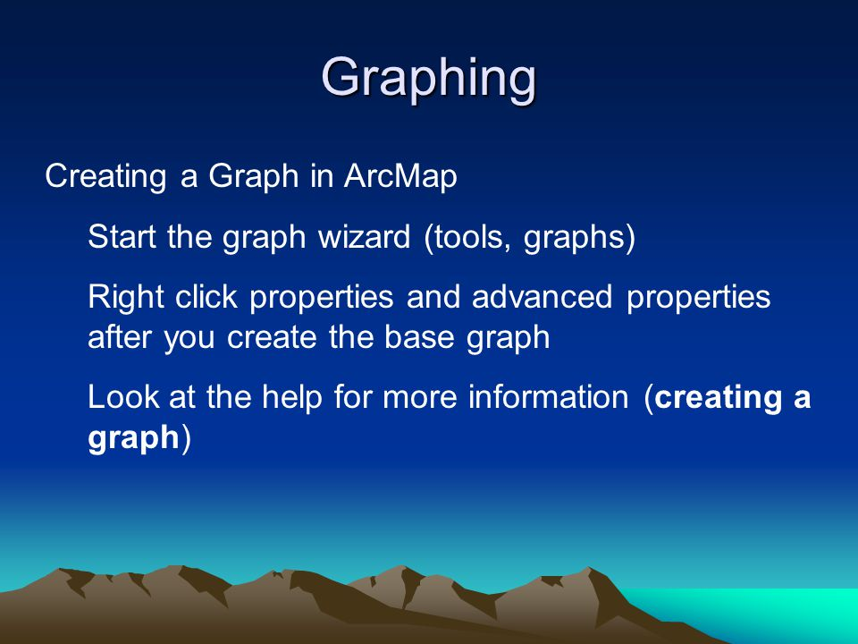 Graphing Creating a Graph in ArcMap
