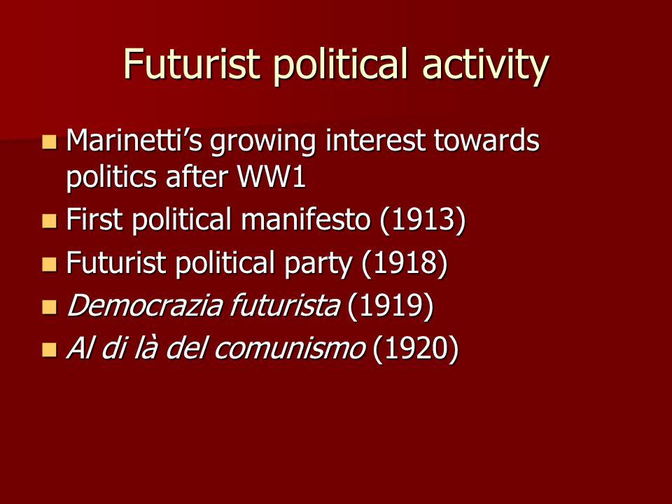 Futurist political activity