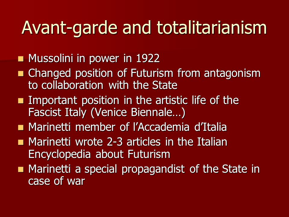 Avant-garde and totalitarianism