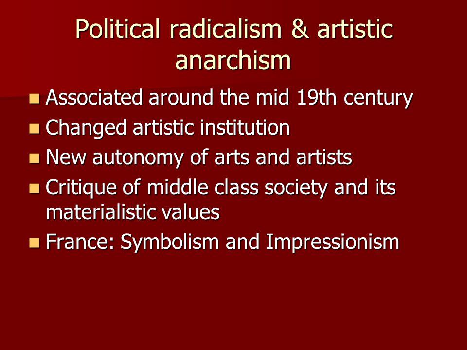 Political radicalism & artistic anarchism