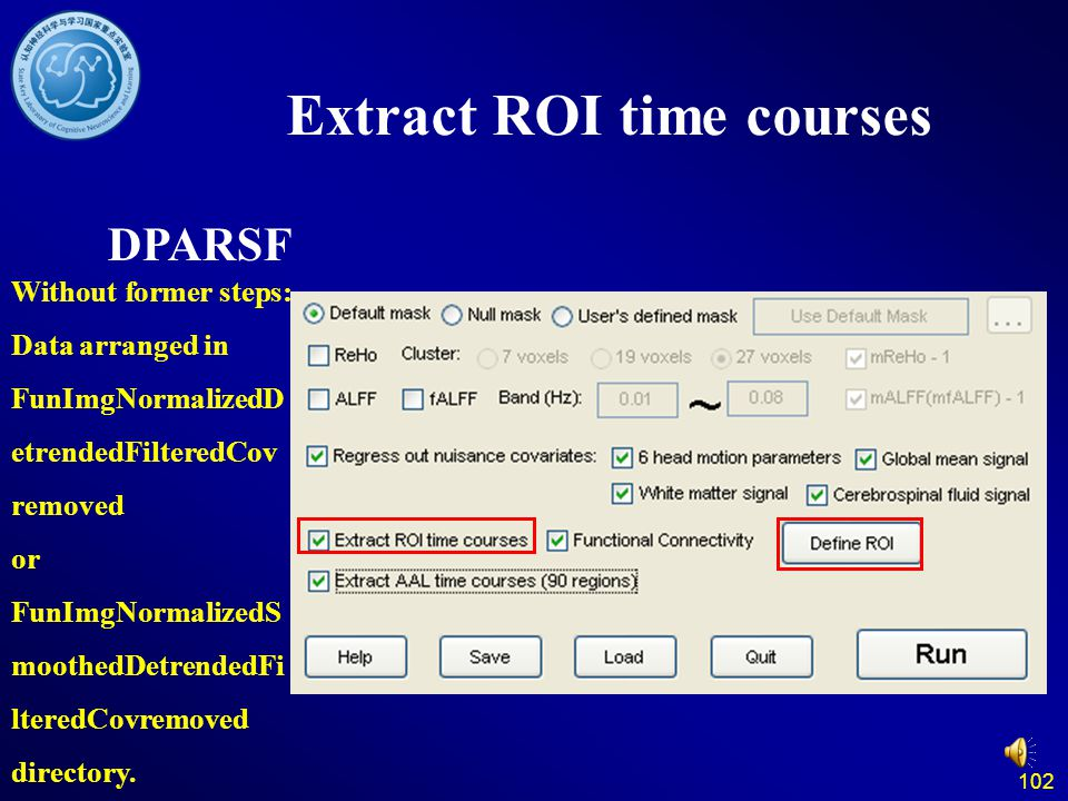 Extract ROI time courses