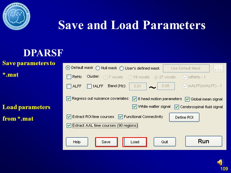 Save and Load Parameters
