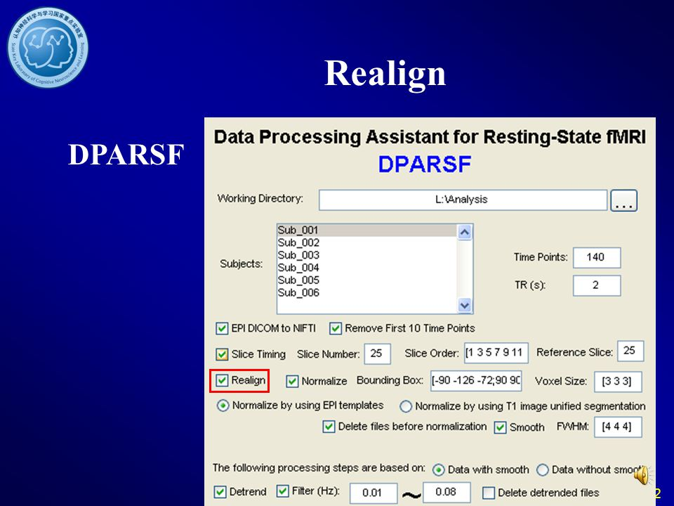 Realign DPARSF 32