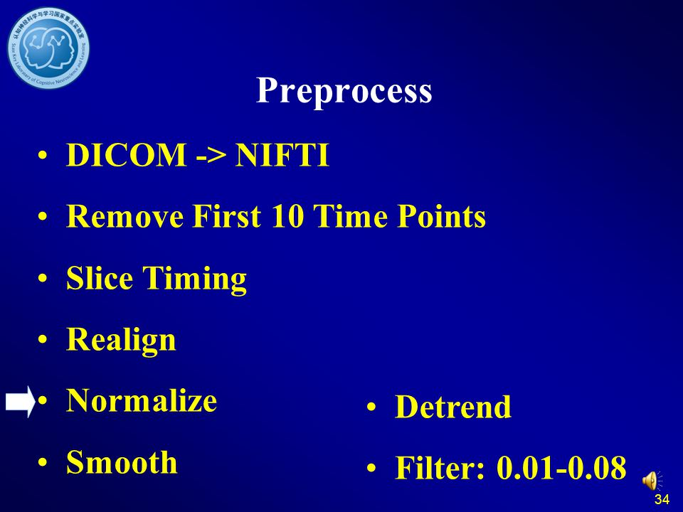 Preprocess DICOM -> NIFTI Remove First 10 Time Points Slice Timing