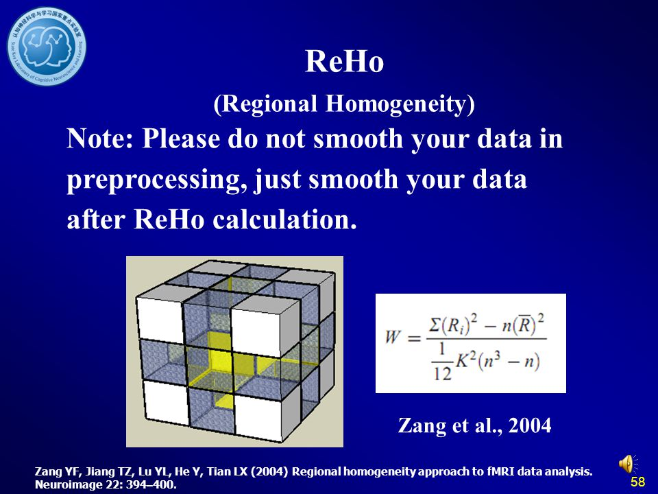 ReHo (Regional Homogeneity)