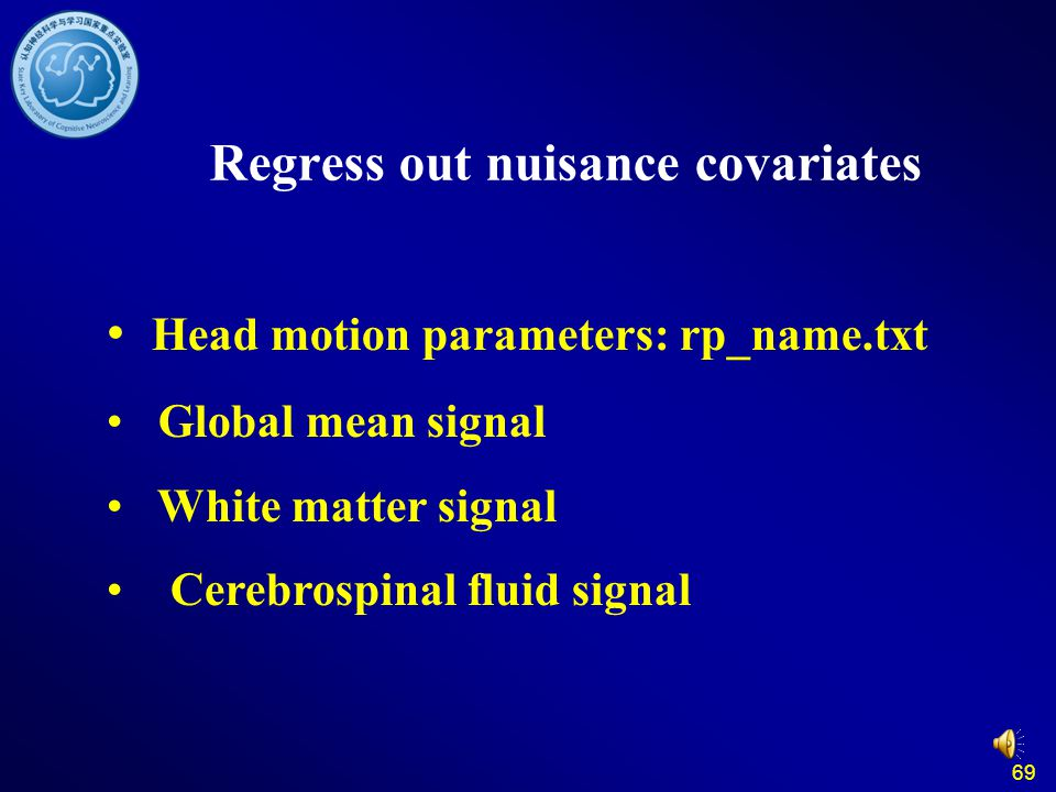 Regress out nuisance covariates