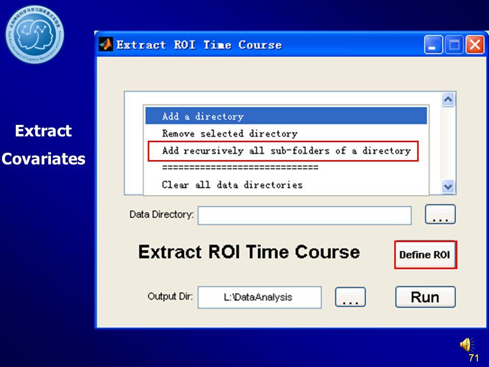 Extract Covariates 71