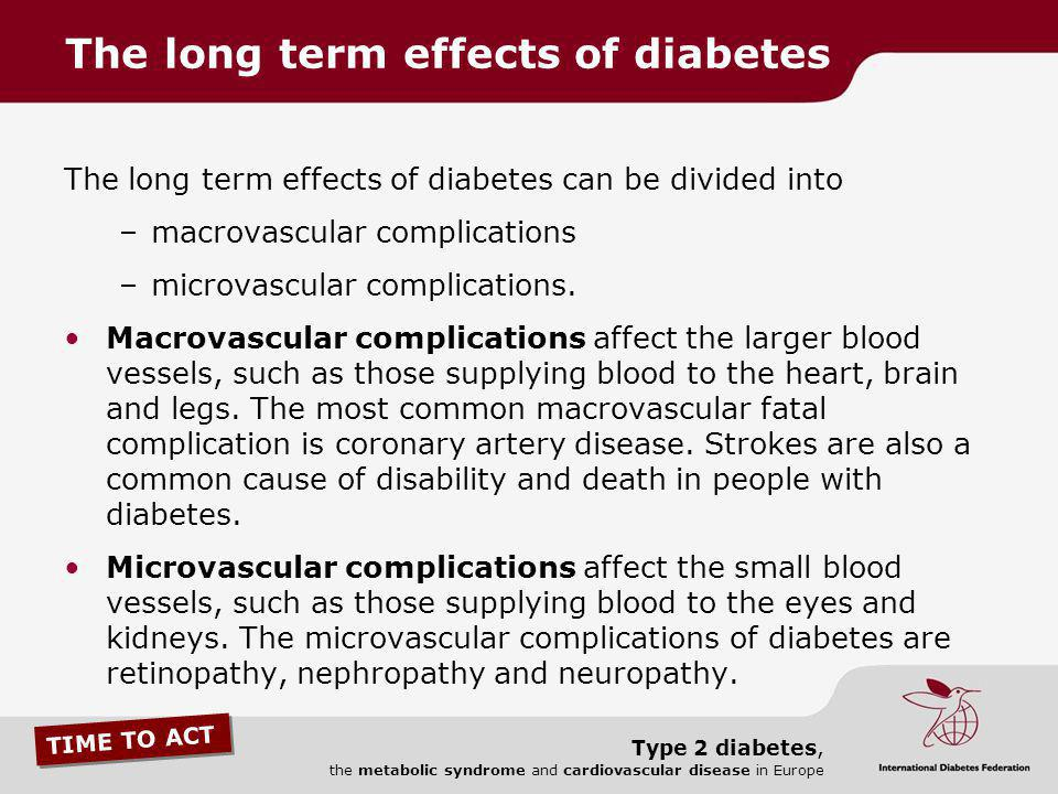 The long term effects of diabetes