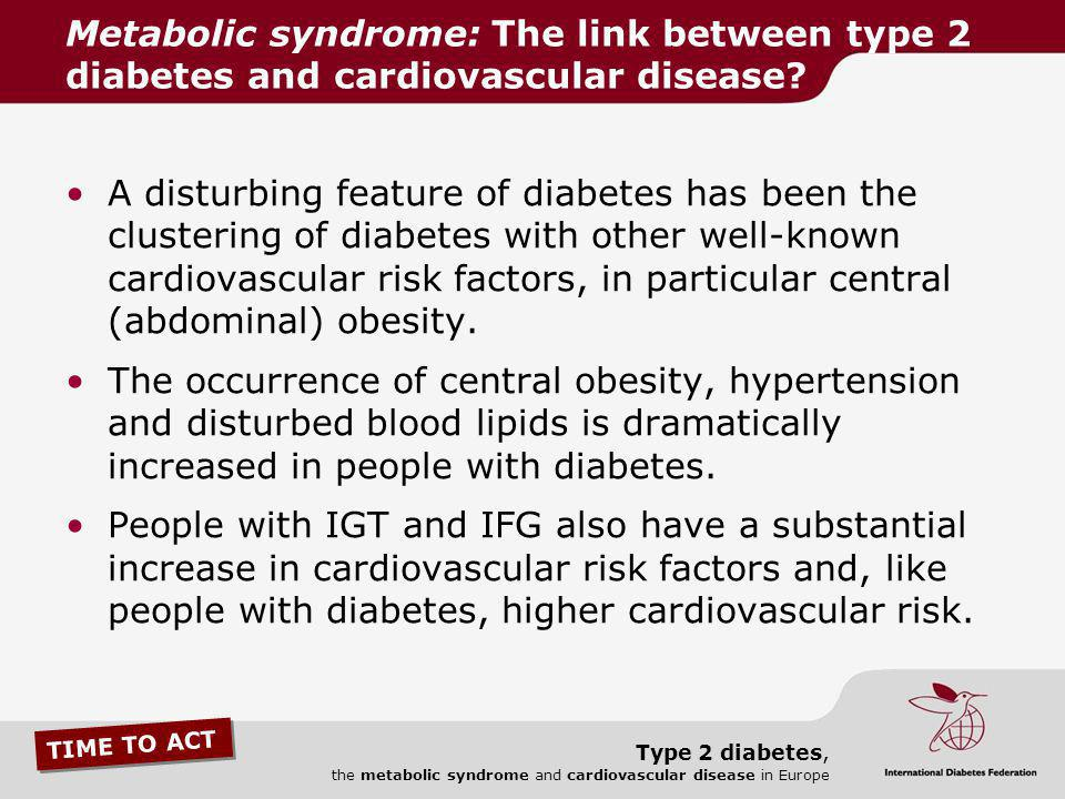 Metabolic syndrome: The link between type 2 diabetes and cardiovascular disease