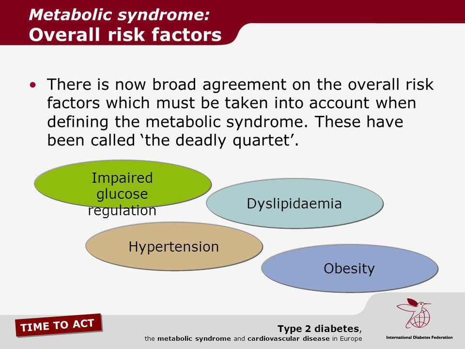 Metabolic syndrome: Overall risk factors