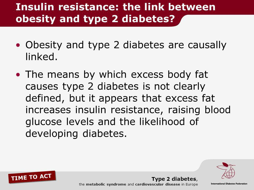 Insulin resistance: the link between obesity and type 2 diabetes