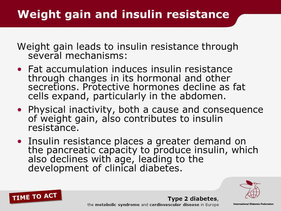 Weight gain and insulin resistance