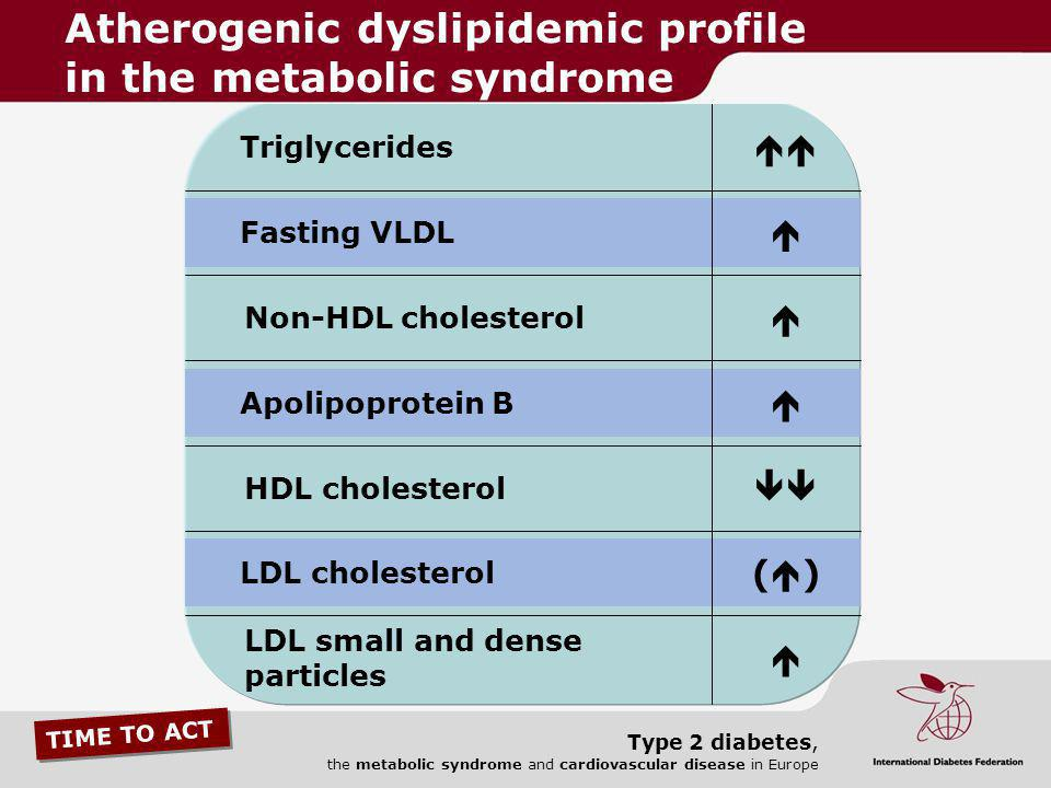 Atherogenic dyslipidemic profile in the metabolic syndrome