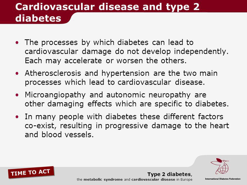Cardiovascular disease and type 2 diabetes