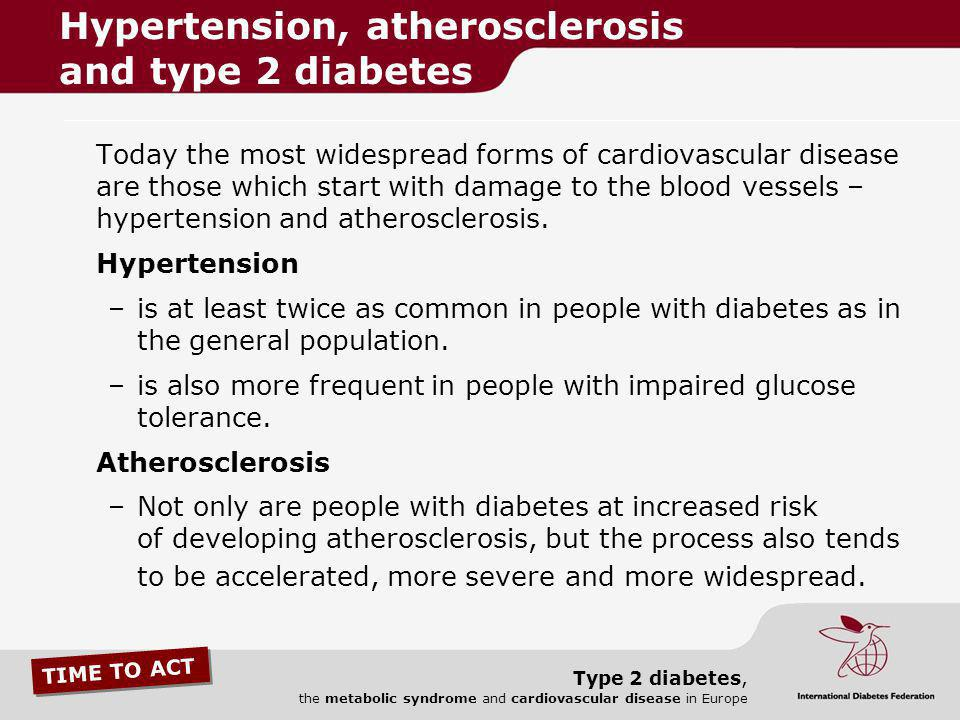 Hypertension, atherosclerosis and type 2 diabetes