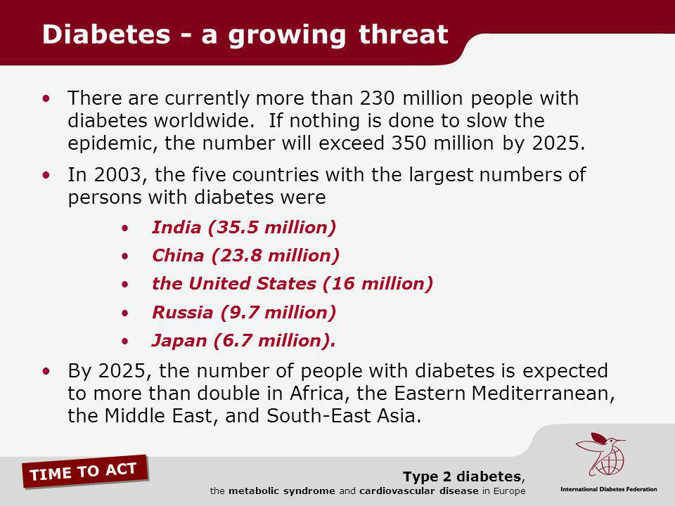 Diabetes - a growing threat