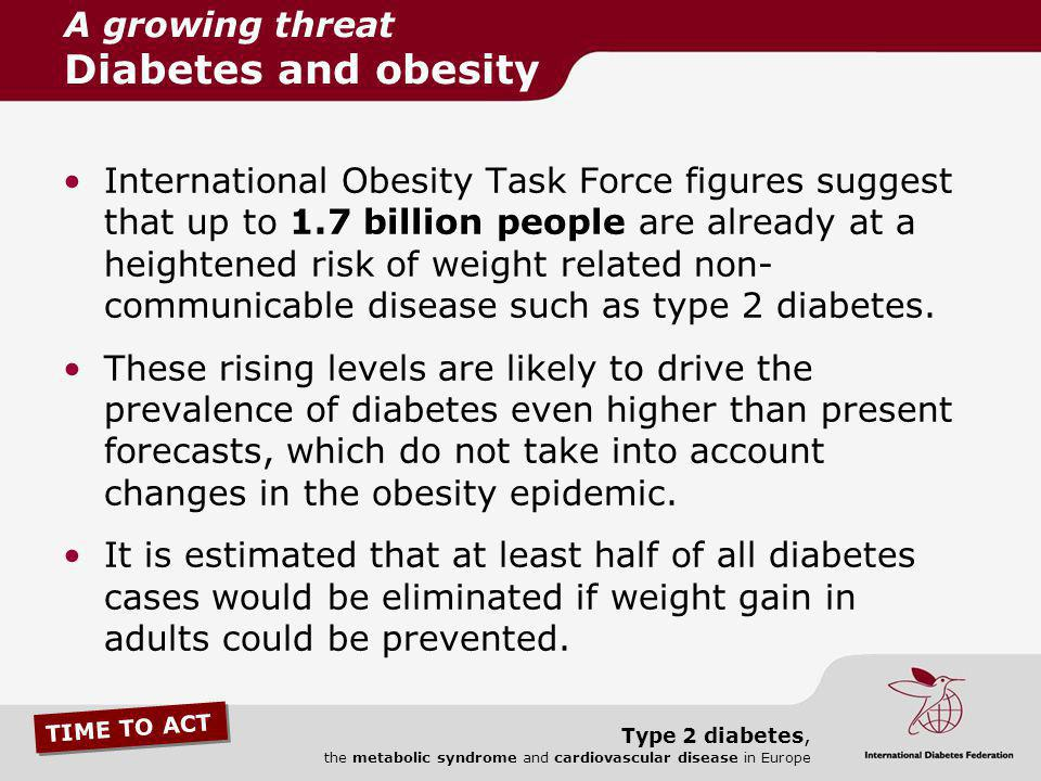 A growing threat Diabetes and obesity