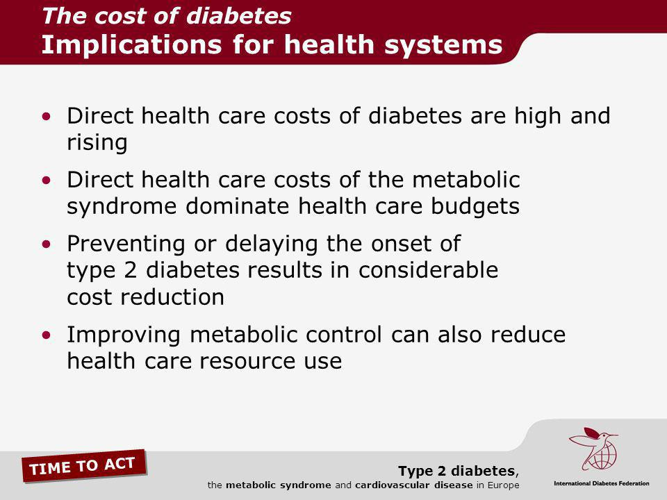 The cost of diabetes Implications for health systems