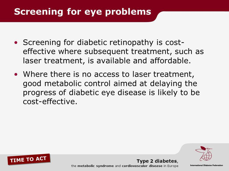 Screening for eye problems