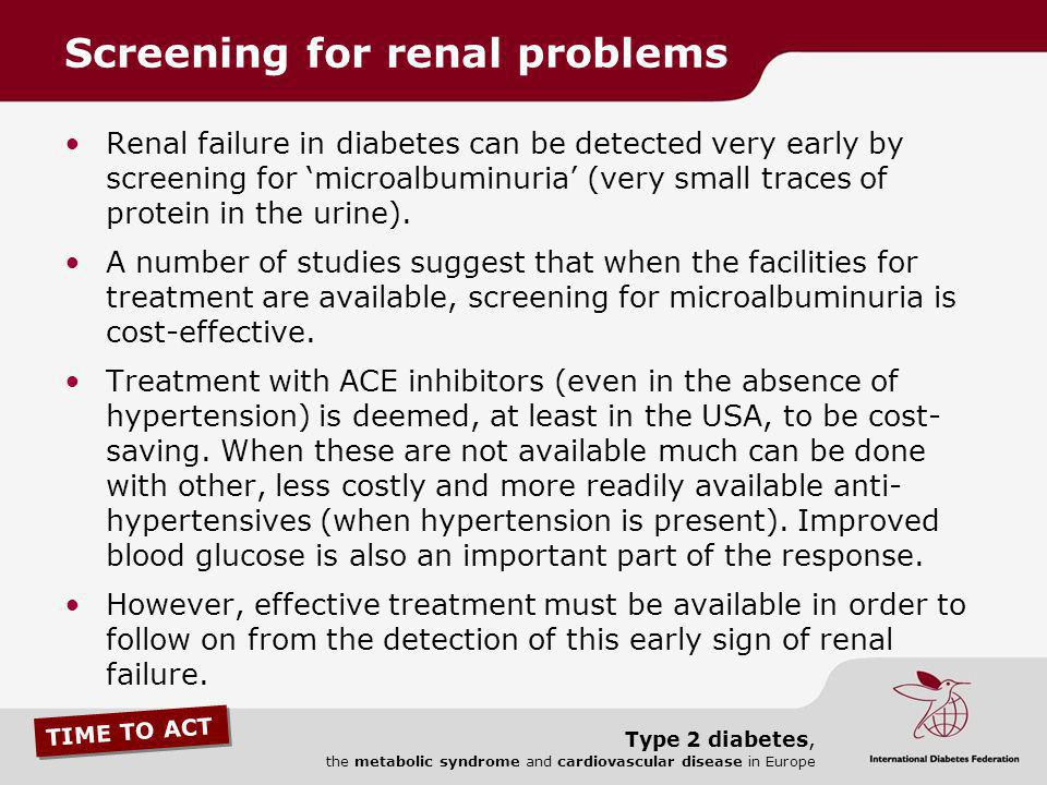 Screening for renal problems