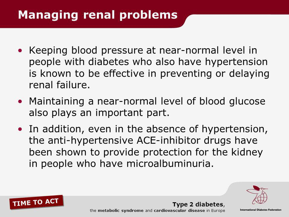 Managing renal problems